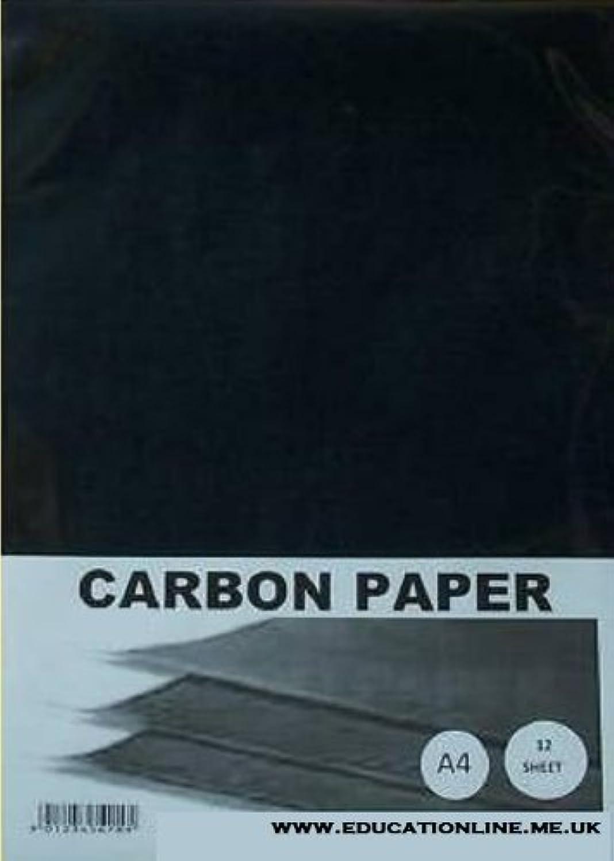 A4 CARBON PAPER 50 SHEET PACK COLOUR - schwarz B0096FS6PQ  | Online-Exportgeschäft