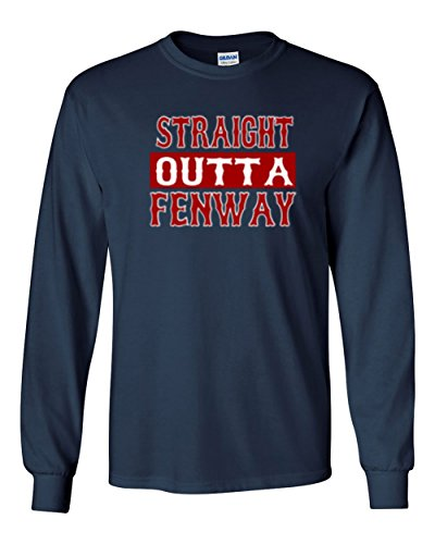 The Silo Long Sleeve Navy Boston Straight Outta Fenway T-Shirt Adult