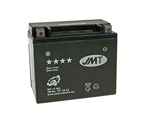 Batterie JMT GEL - YTX12-BS 12 Volt - Kawasaki ER-6N 650 A ER650A Bj. 2005-2007 [ inkl.7.50 EUR Batteriepfand ]