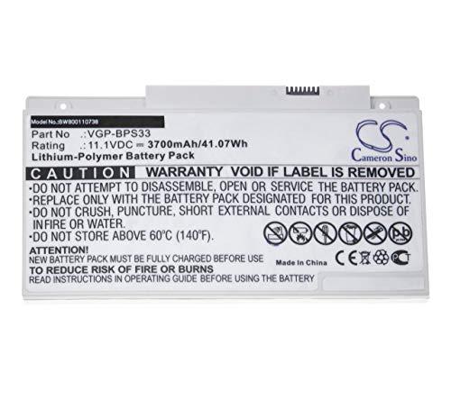 vhbw Li-ION Batterie 3500mAh (11.4V) pour Notebook Sony VAIO SVT1511M1E/S. Remplace: VGP-BPS33.