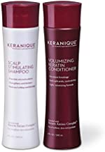 Keranique Shampoo and Conditioner Set for Hair Growth and Thinning Hair | Keratin Hair Treatment | Keratin Amino Complex, Free of Sulfates, Dyes and Parabens, 8 Fl Oz