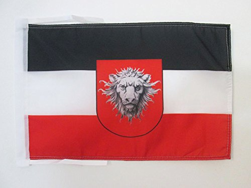 AZ FLAG Flagge KAMERUN 1884-1916 45x30cm mit Kordel - DEUTSCHE KOLONIE Fahne 30 x 45 cm - flaggen Top Qualität