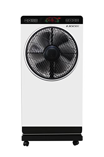 Jocel JVAB030528 Ventilador nebulizador, 80 W, Plástico, 3 Velocidades, Blanco