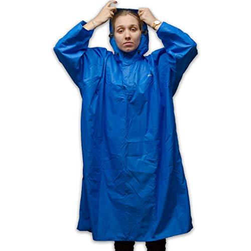 LOWLAND OUTDOOR Poncho de pluie imperméable (colonne d'eau 7000 mm), bleu, L