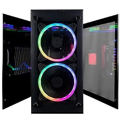 CUK Stratos Mini Gaming PC (Liquid Cooled Intel Core i7-9700KF, NVIDIA GeForce RTX 2070, 32GB DDR4 RAM, 512GB NVMe SSD + 1TB HDD, 650W Gold PSU, Windows 10) Best Tiny RGB Desktop Computer for Gamers