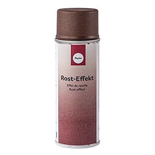 Rayher 34435222 Rost-Effekt-Spray, Sprühdose 200 ml, erzeugt eine spezielle, raue Oberflächenstruktur mit Rostoptik