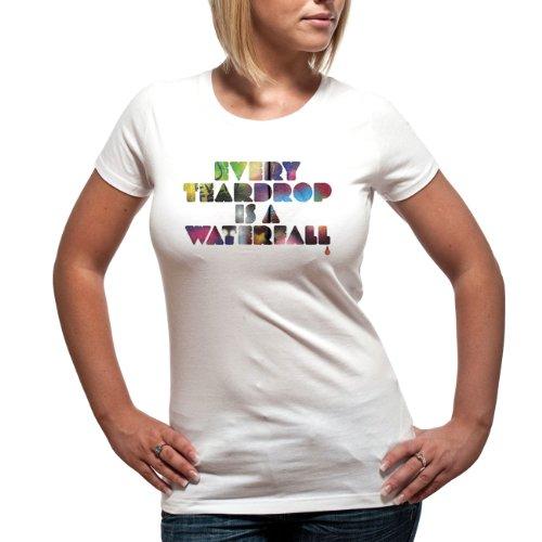 Coldplay - Girl Shirt Multi Coloured Teardrop (in XL)