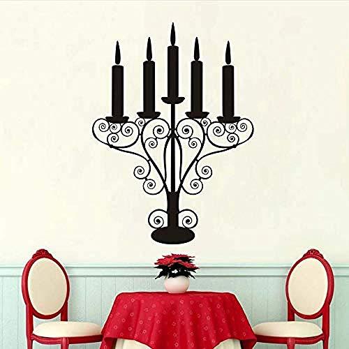 Persoonlijkheid Muurstickers Zoete Romantische Home Decoratie Vijf Lagen Kandelaar Zelfklevende Waterdichte Muurstickers Woonkamer 59X79Cm