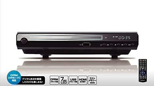 グリーンハウス コンパクトデザインのHDMI対応DVDプレーヤー ブラック GH-DVP1C-BK