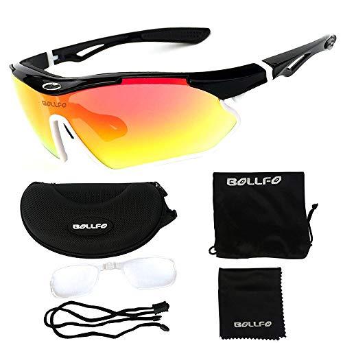 BDS Gafas de Ciclismo polarizadas Hombres y Mujeres UV400 MTB Gafas Deportivas Montar en Bicicleta Gafas de Sol a Prueba de Viento Pesca Golf Senderismo Gafas de Sol Gafas Lenes Marco superligero
