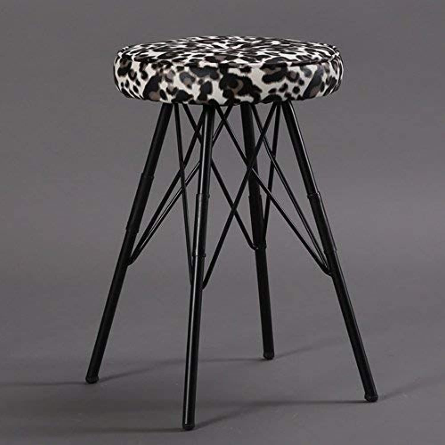 YZH Practical Chair Stool, Round Clothing Store Decoration Stool,The Best Choice for a Restaurant Cafe Lounge