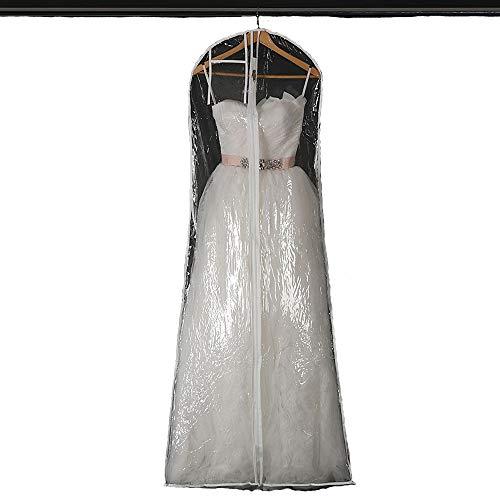 CZSM Impermeable Transparente Vestido de Novia Vestido de Novia Bolsa de Ropa...