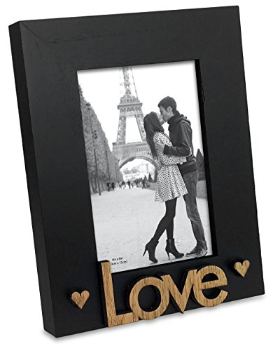 Mejor Gallery Solutions 2 Collage Wall Hanging Picture, 4x6 LOVE YOU MORE PLANK FRAME with 2-4X6 OPENINGS, Brown crítica 2020
