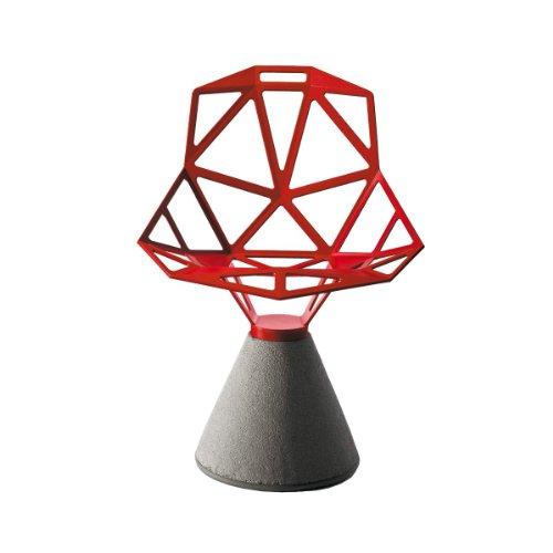 Magis Chair One Silla con pie Cemento, Rojo Lacado, für den Außenbereich