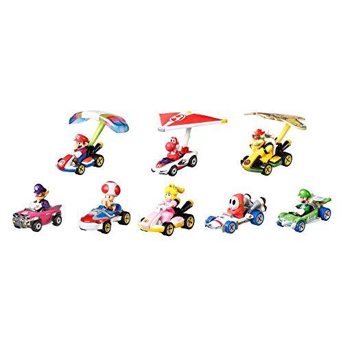 Hot Wheels Mario Kart Set de colección con 8 mini coches de juguete con...