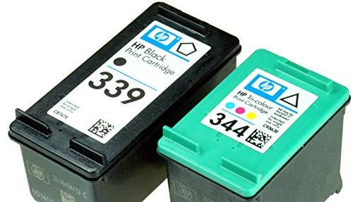HP Nr. 339 schwarz (C8767E) + 344 (C9363E) farbig Kombipackung