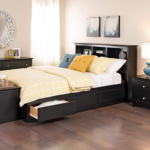 Prepac Full Mate's Platform Storage Bed with 6 Drawers, Black