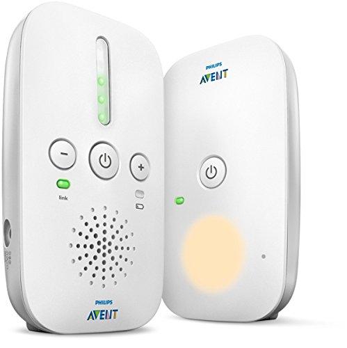 Philips AVENT Audio Monitors - Vigilabebé (Vigilabebés con tecnología DECT, 120 canales, 300 m, 50 m, 300 m, Blanco)