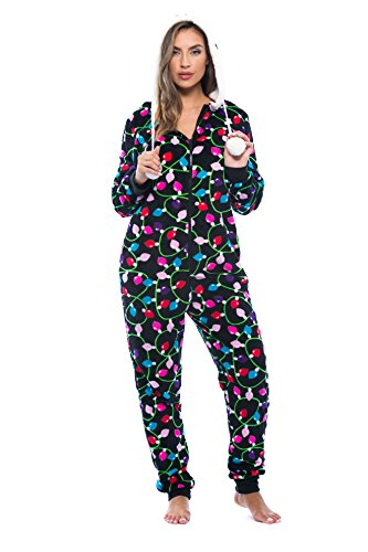 6342-10122-L Just Love Adult Onesie / Pajamas,Large,Black - Light Up