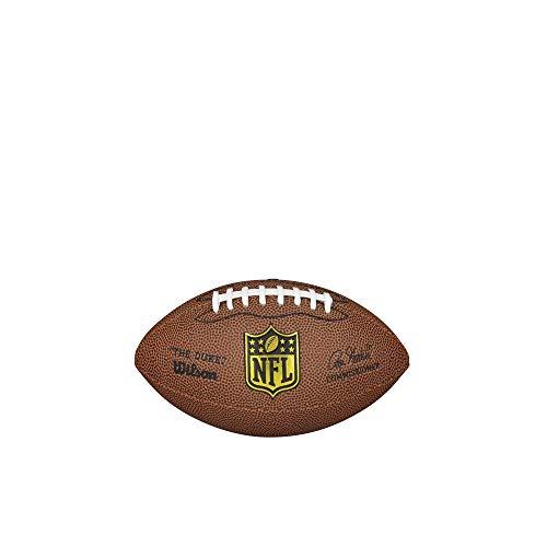 Wilson WTF1631XB Pelota de fútbol Americano The Duke NFL JR Team Material Compuesto, para niños, Marrón, Mini 🔥