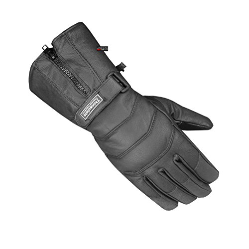 Men's Thermal Sheep Leather Winter Motorcycle Street Cruiser Gloves Black XL