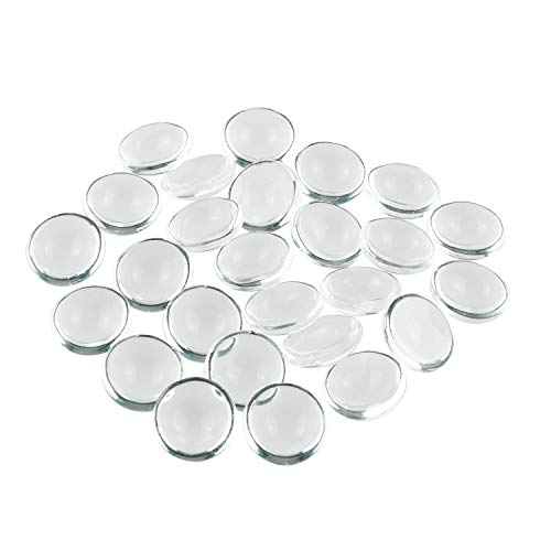 Tegg Transparent Dome Tile 100PCS 12mm Clear Round Glass Cabochons Imitation Gemstone Flat Back for Photo Pendant Jewelry Making DIY Craft