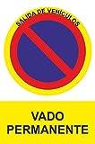 MovilCom® - Adhesivo PROHIBIDO VADO PERMANENTE...