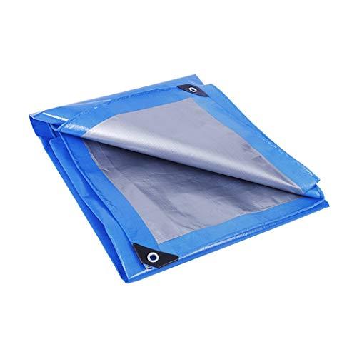 TONG YUE SHOP Tissu Anti-Pluie Bleu et Argent extérieur épais Tissu de Couverture de Camion antipoussière en Tissu imperméable et résistant à l'usure en Plastique Double (Color : 3.8x7.8 Meters)