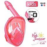 IMMEK Tauchmaske,Tauchmaske für Kinder,180° Tauchmaske, Schnorchelmaske,Easybreath Maske,Anti-Fog Universalgröße für alle Kinder