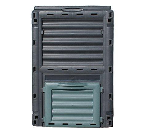 Dehner Gute Wahl Thermo Komposter 300 Liter, ca. 80 x 61 x 61 cm, Kunststoff, schwarz/grün