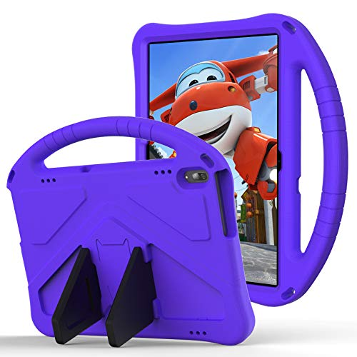 QYiD Kids Case for 10.1' Lenovo Tab M10 HD (TB-X505F,TB-X605F) / Smart Tab P10 (TB-X705F), Kids Friendly Light Weight EVA Shockproof Case with Convertible Handle & Stand for Lenovo Tab M10/P10, Purple