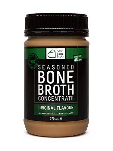 BONE BROTH Hochwertiges Rinderbrühe-Konzentrat – Optimierte Ernährung Rinderbrühe für unterwegs - Ohne Hormone und ohne Zusatzstoffe, köstlicher natürlicher Geschmack, Rindfleisch aus Australia - 375g