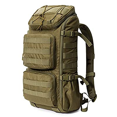 Mardingtop 28L Tactical Backpacks Molle Hiking daypacks for Motorcycle Camping Hiking Military Traveling (6347-Khaki)