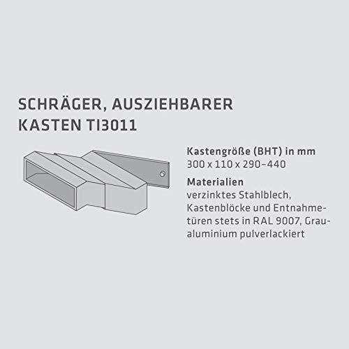 Max Knobloch Mauerdurchwurf-Briefkasten Edelstahl MD10-OR-E (1 x 12 Liter) - 3