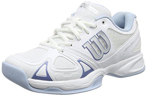 WILSON Wilson Damen Tennisschuhe Rush Evo Carpet,Weiß (White/Grau/Cashemere Blue),37 2/3 EU