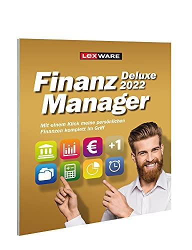 Lexware FinanzManager Deluxe 2022|frustfreie Verpackung|Einfache Buchhaltungs-Software für private Finanzen und Wertpapier-Handel|deluxe|1 Gerät|1 Jahr|PC|Disc|Disc