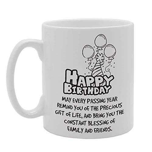 Taza Mug Feliz cumpleaños Que cada año que pasa te recuerde el preciado regalo de la vida Tazas 330Ml