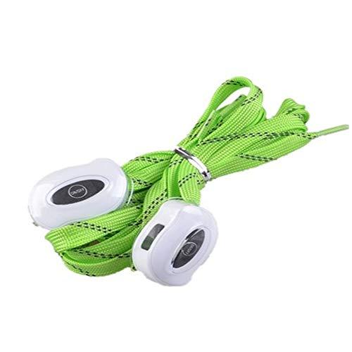 USB Que Carga El Cordón De Nylon Led Que Enciende La Cuerda del Zapato,Verde