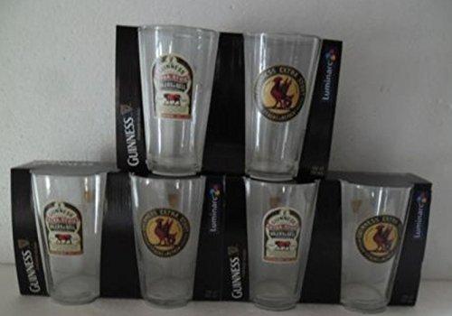 6 vasos de pinte Guinness extra Atril (58 cl)