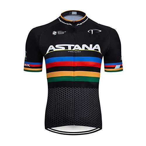 TOPBIKEB fietsshirt voor heren zomer, fietsshirt met korte mouwen voor MTB