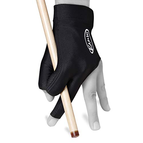 Kamui Billiard GLOVE QuickDry, for LEFT Hand, Black (L)