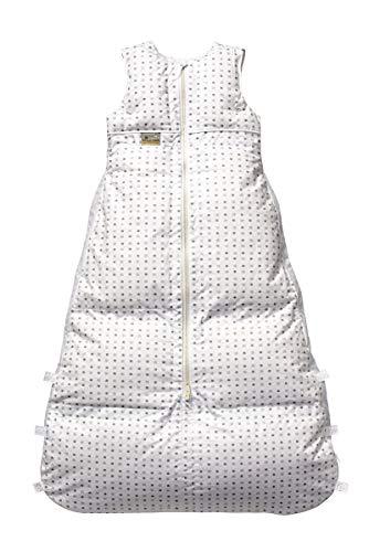 Set ARO Artländer Daunenschlafsack mit Stoffwindel von Kinderhaus Blaubär/Winterschlafsack längenverstellbar/Baby-Schlafsack mit Premiumdaunen, Größe:110 (100/90), Design:Sternenhimmel