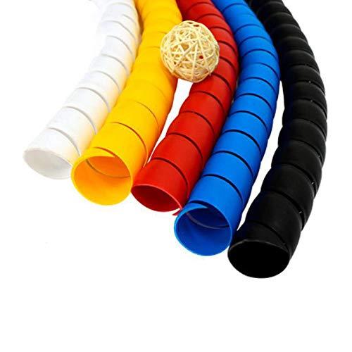 2 metros de cable de 8 mm de línea para organizar pipa de protección en espiral, cable de protección para cable de protección, tubo blanco de 8 mm