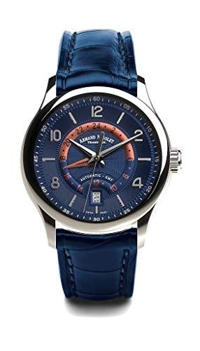 Armand Nicolet M02-4 Orologio automatico GMT in acciaio inox blu...