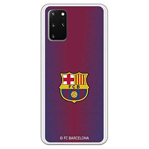 Funda para Samsung Galaxy S20 Plus Oficial del FC Barcelona Barcelona Fondo Rojo Escudo Color para Proteger tu móvil. Carcasa para Samsung de Silicona Flexible con Licencia Oficial del FC Barcelona.