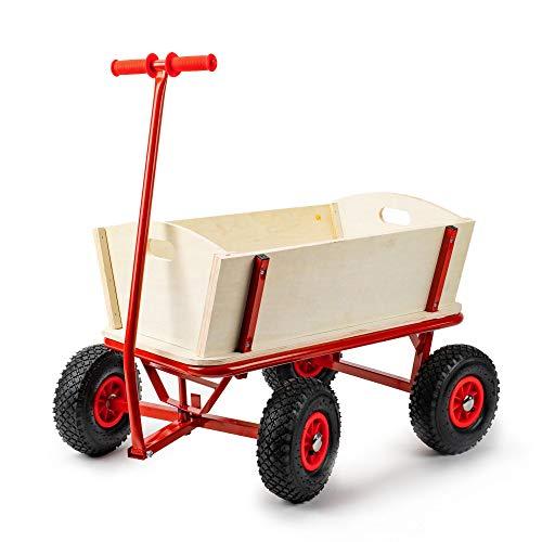 Berlan Bollerwagen Holz mit Stahlrohrrahmen - bis max. 150 kg