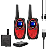 Retevis RT628 Walkie Talkies for Kids with Rechargeable Battery 22 Channels 2 Way
