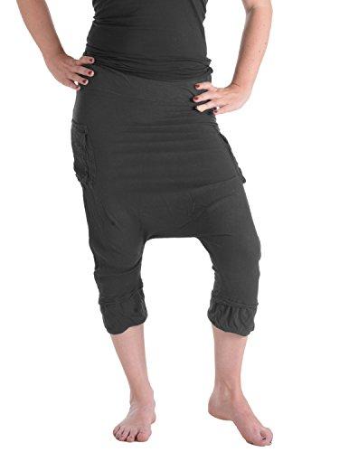 Vishes – Alternative Bekleidung – Dreiviertel Haremshose schwarz 40 bis 42