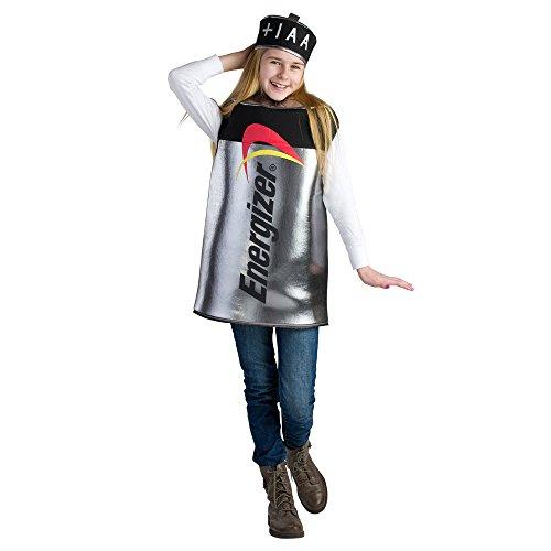 Dress Up America Costume da batteria per bambini energizzatore, Metallizzato, taglia 8-10 anni (vita: 76-82, altezza: 114-127 cm), 800-M