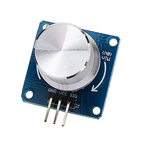 YEZIB Accesorios electrónicos de Bricolaje, El potenciómetro Ajustable Perilla de Control de Volumen Interruptor del Sensor de ángulo rotativo Módulo for 3pcs